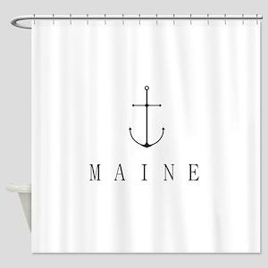 Maine Sailing Anchor Shower Curtain