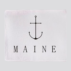 Maine Sailing Anchor Throw Blanket