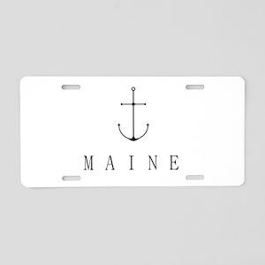 Maine Sailing Anchor Aluminum License Plate