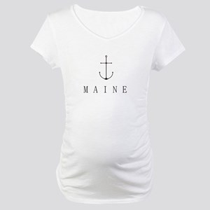 Maine Sailing Anchor Maternity T-Shirt