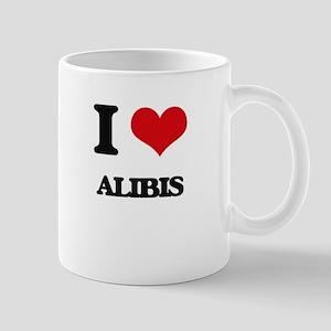 I Love Alibis Mugs