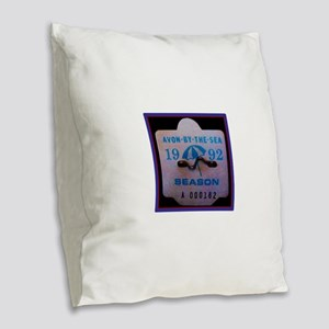 Avon by the Sea Burlap Throw Pillow