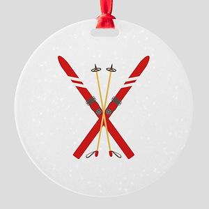 Vintage Ski Poles Ornament