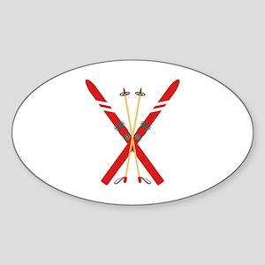 Vintage Ski Poles Sticker