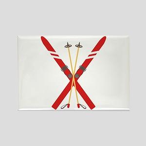 Vintage Ski Poles Magnets
