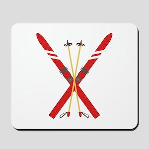 Vintage Ski Poles Mousepad