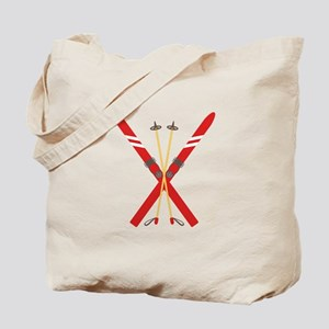 Vintage Ski Poles Tote Bag