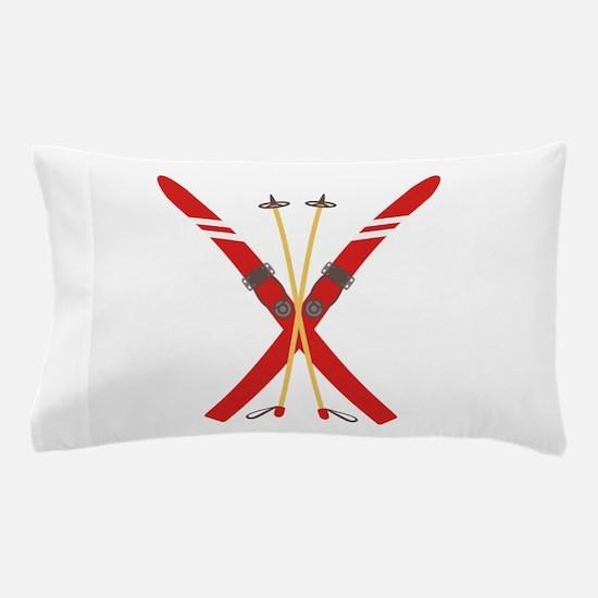 Vintage Ski Poles Pillow Case