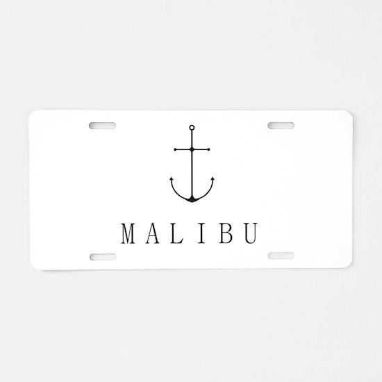 Malibu Sailing Anchor Aluminum License Plate