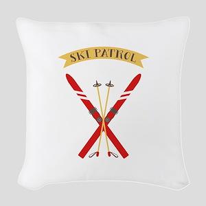 Ski Patrol Woven Throw Pillow