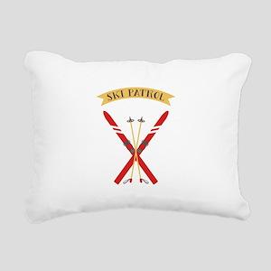 Ski Patrol Rectangular Canvas Pillow