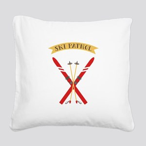 Ski Patrol Square Canvas Pillow