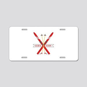 Going down Aluminum License Plate