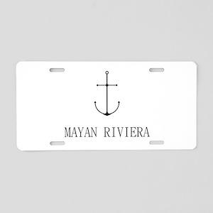 Mayan Riviera Sailing Anchor Aluminum License Plat