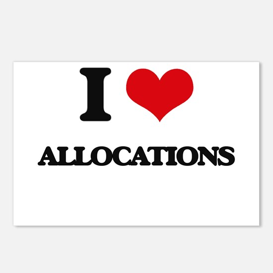 I Love Allocations Postcards (Package of 8)