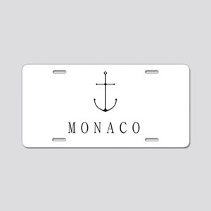 Monaco Sailing Anchor Aluminum License Plate