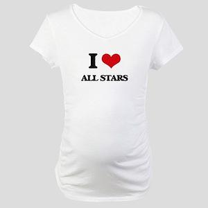 I Love All-Stars Maternity T-Shirt