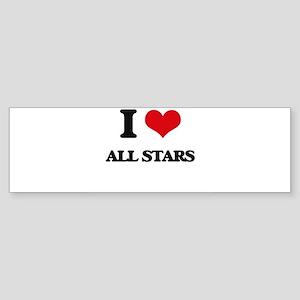 I Love All-Stars Bumper Sticker