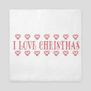I Love Christmas Queen Duvet
