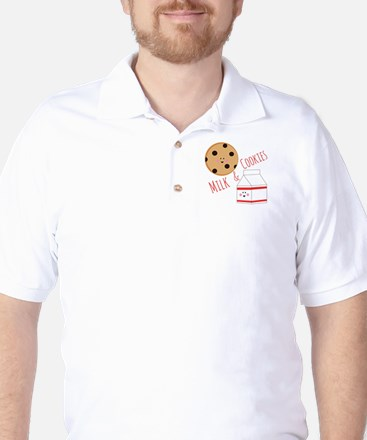 Milk Cookies Golf Shirt