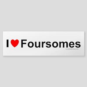 Foursomes Sticker (Bumper)