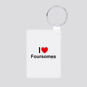 Foursomes Aluminum Photo Keychain