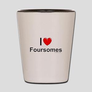Foursomes Shot Glass