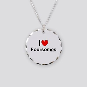 Foursomes Necklace Circle Charm