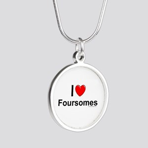 Foursomes Silver Round Necklace