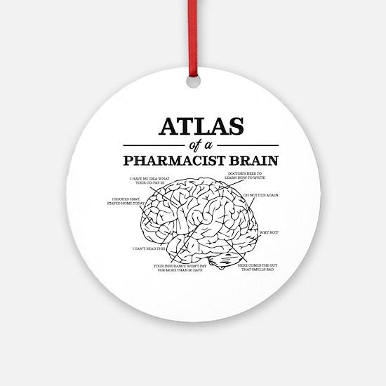 Atlas of a Pharmacist Brain Round Ornament
