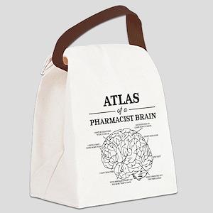 Atlas of a Pharmacist Brain Canvas Lunch Bag
