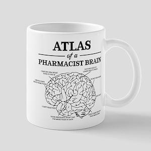 Atlas of a Pharmacist Brain 11 oz Ceramic Mug