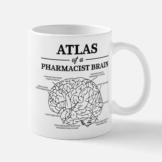 Atlas of a Pharmacist Brain Small Mug