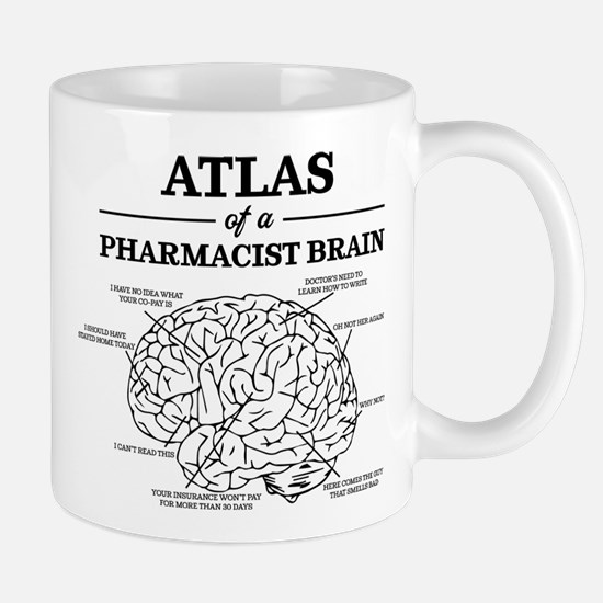 Atlas of a Pharmacist Brain Small Mugs