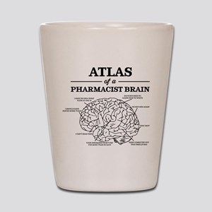 Atlas of a Pharmacist Brain Shot Glass
