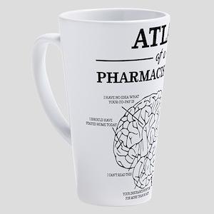 Atlas of a Pharmacist Brain 17 oz Latte Mug