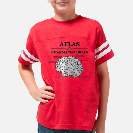Atlas of a Pharmacist Brain Youth Football Shirt