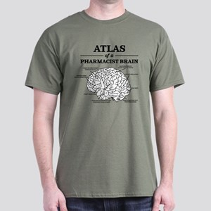 Atlas of a Pharmacist Brain Dark T-Shirt