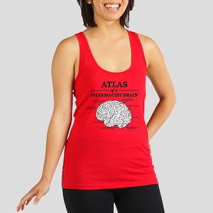 Atlas of a Pharmacist Brain Racerback Tank Top