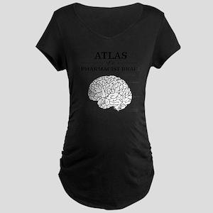 Atlas of a Pharmacist Brain Maternity Dark T-Shirt