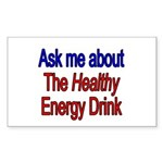 Healthy Energy Drink Rectangle Sticker