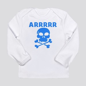 Arrrrr Pirate Skull Long Sleeve T-Shirt
