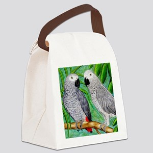 African Greys Canvas Lunch Bag
