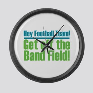 Marching Band Field Large Wall Clock