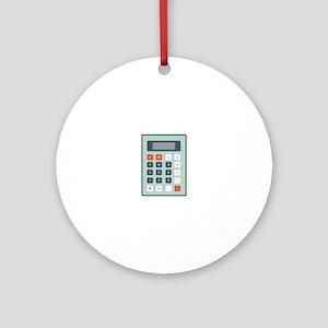 Calculator Ornament (Round)
