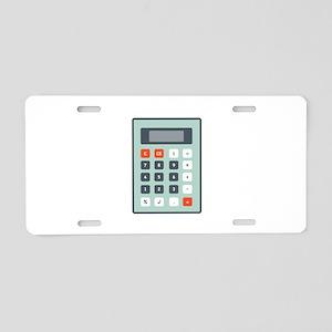 Calculator Aluminum License Plate