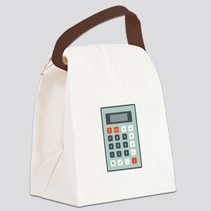 Calculator Canvas Lunch Bag
