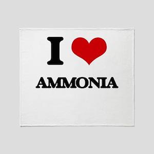 I Love Ammonia Throw Blanket