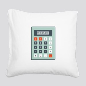 Add It Up Square Canvas Pillow