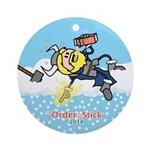 2014 Order Of The Stick Holiday Round Ornament